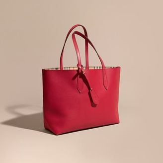 Burberry The Medium Reversible Tote in Haymarket Check and Leather $995 thestylecure.com