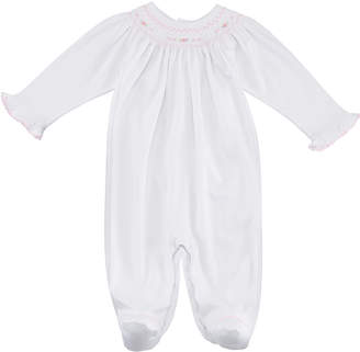 Kissy Kissy CLB Fall Bishop Smocked Footie Playsuit, Size Newborn-9M