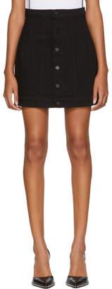 Alexander Wang Black Seamed Denim Skirt