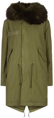 Mr & Mrs Italy Fox Fur Hooded Long Parka Jacket