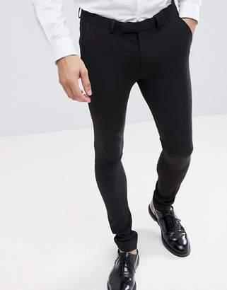 Asos DESIGN extreme super skinny smart pants in black