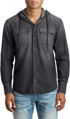 True Religion MENS DENIM SHIRT W/ HOOD