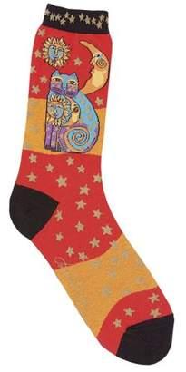 Laurèl Burch Socks-Celestial Cat - Orange