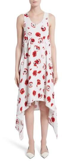 Floral Print Handkerchief Hem Dress