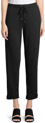Neiman Marcus Rolled-Cuff Jogger Pants
