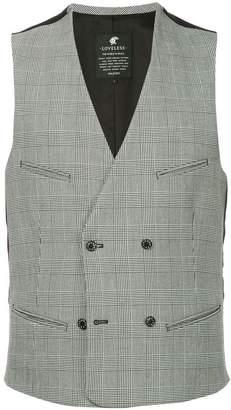 Loveless double-breasted waistcoat