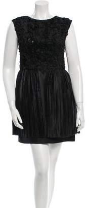 3.1 Phillip Lim Sleeveless Textured Mini Dress