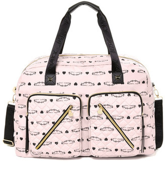 Betsey Johnson Floral Cargo Weekend Bag $138 thestylecure.com