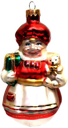 """Holiday Lane Molded Glass Mrs. Claus 4"""" Christmas Ornament"""
