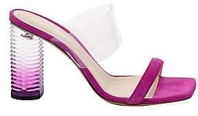 Nicholas Kirkwood Women's Peggy PVC& Suede Mule Sandals