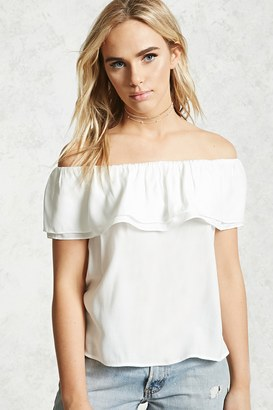 FOREVER 21+ Ruffled Off-The-Shoulder Top $15.90 thestylecure.com