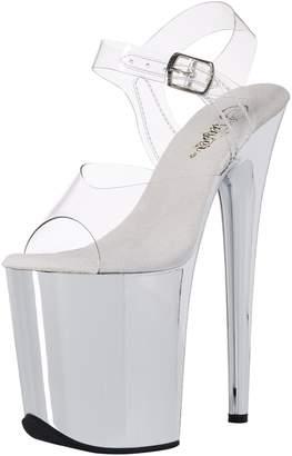 Pleaser USA Women's Flam808/C/Sch Platform Dress Sandal