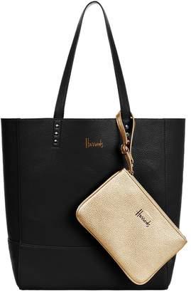 Harrods Fern Reversible Metallic Tote Bag