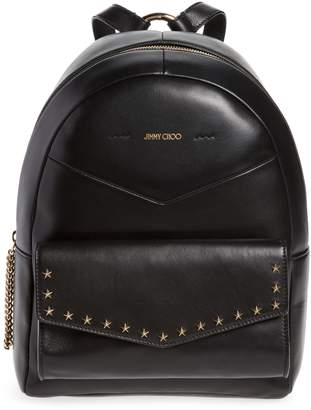 Jimmy Choo Cassie Star Studded Lambskin Leather Backpack