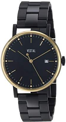 Vestal 'Sophisticate 36 Metal' Swiss Quartz Stainless Steel Dress Watch