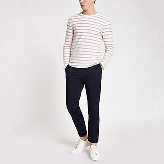 Mens Only and Sons Red stripe long sleeve top