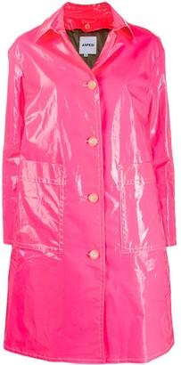 Aspesi laminated single-breasted coat