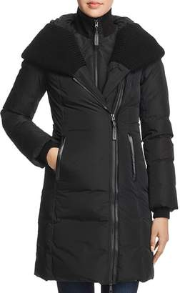 Mackage Brigid Knit Trim Down Coat