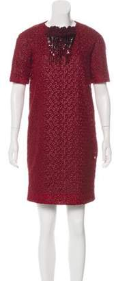 Maurizio Pecoraro Embroidered Mini Dress Embroidered Mini Dress