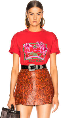 Fendi Trevi Falls Embellished Graphic Tee