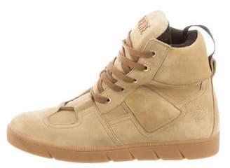 Loewe Suede High-Top Sneakers