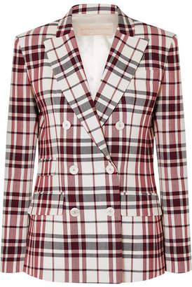 Antonio Berardi Checked Wool And Mohair-blend Blazer