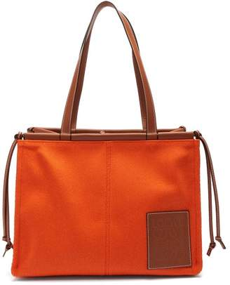Loewe Cushion Small Canvas Tote Bag - Womens - Orange Multi