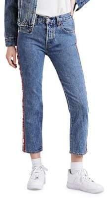 Levi's 501 Cropped Denim Jeans