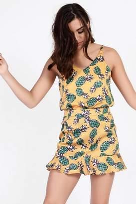 Glamorous **Pineapple Print Skirt by Petites