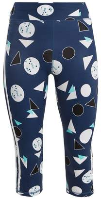 The Upside Power Match Point Print Performance Leggings - Womens - Blue Multi