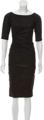 Lela Rose Side Ruched Dress w/ Tags