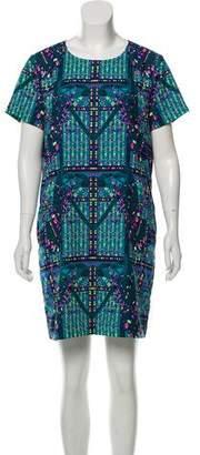 Mara Hoffman Printed Short Sleeve Mini Dress