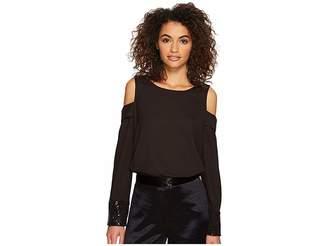 Kensie Smooth Stretch Crepe Top KSDK4357 Women's Clothing