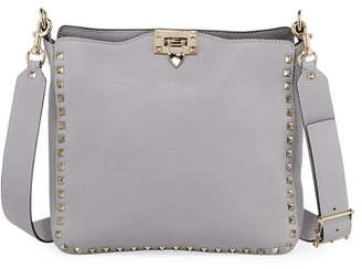 Valentino Rockstud Small Vitello Leather Hobo Bag