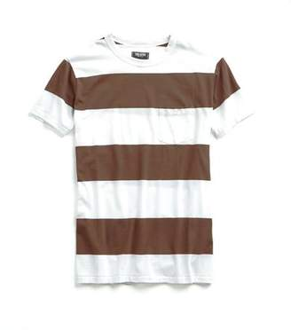 Todd Snyder Bold Stripe Tee in Brown