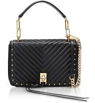 Rebecca Minkoff Black Nappa Leather Small Becky Crossbody
