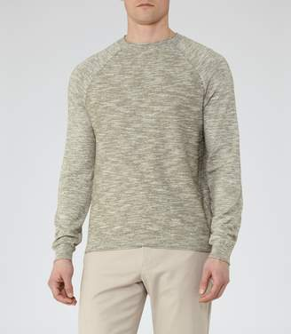 Reiss Martial Contrast Weave Jumper