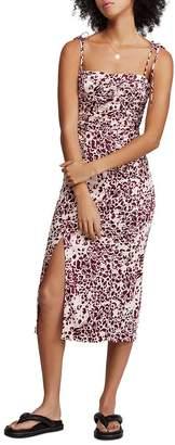 Free People Show Stopper Printed Midi Dress