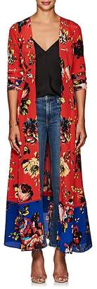 Leone WE ARE Women's Floral Silk Maxi Cardigan