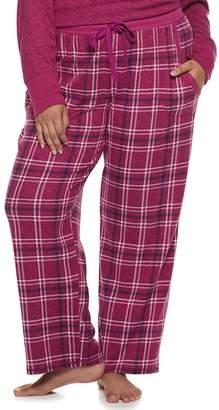 Croft & Barrow Plus Size Printed Pajama Pants