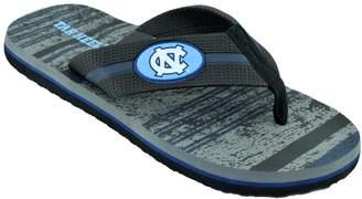 Men's North Carolina Tar Heels Striped Flip Flop Sandals