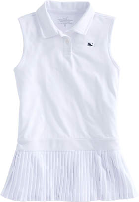 Vineyard Vines Girls Pleated Performance Polo Dress