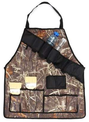 Generic BBQ Barbecue Grill Beer Can Opener Belt Kitchen Cooking Outdoor Camouflage Apron