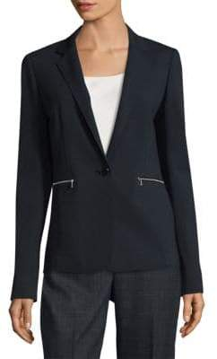 Lafayette 148 New York Lyndon One-Button Blazer