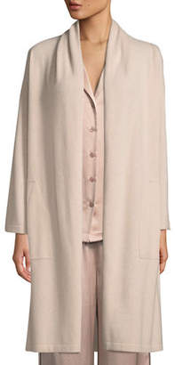 Neiman Marcus Cashmere Patch-Pocket Robe