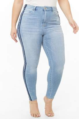 Forever 21 Plus Size Distressed Skinny Jeans