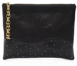 Lauren Merkin Hair Calf & Leather Colorblock Wristlet