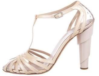 Chanel CC Patent Leather Multi-Strap Sandals