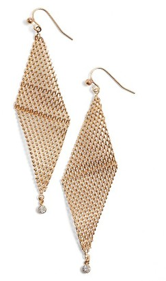 Women's Jules Smith Crystal Mesh Earrings $32 thestylecure.com