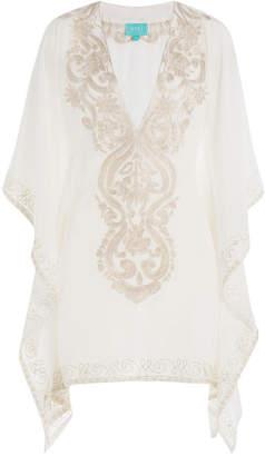 TAJ Embroidered Silk Tunic